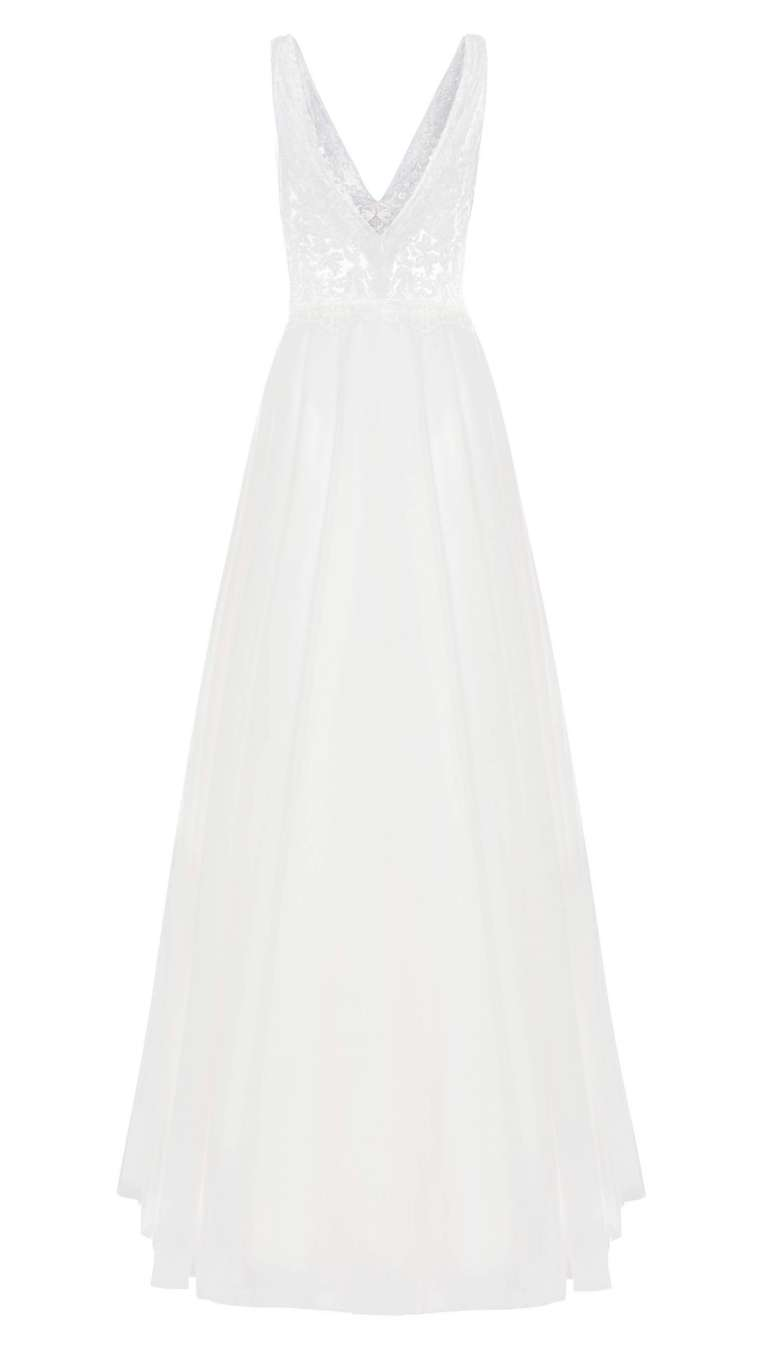 Champagne Tulle Dress Back