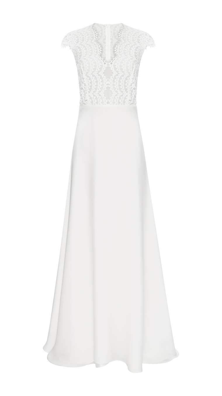 Simple wedding dress Bardot Vest Dress by Kaviar Gauche