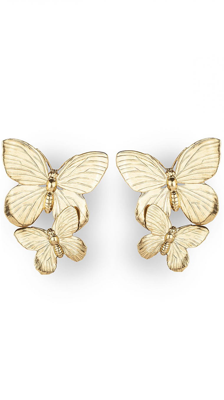 Papillon Earrings Gold by Jennifer Behr