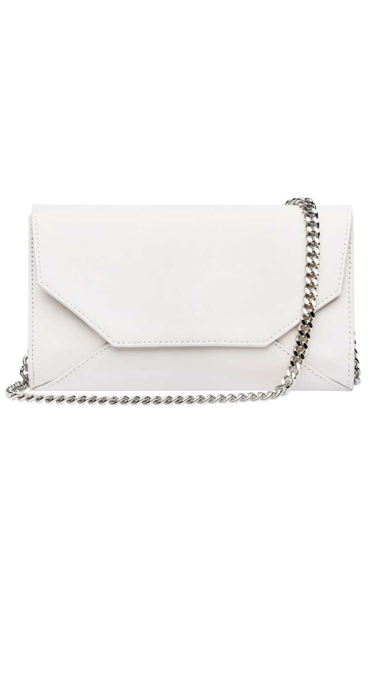 Elegante mini Handbag Logo Envelope with chain by Kaviar Gauche