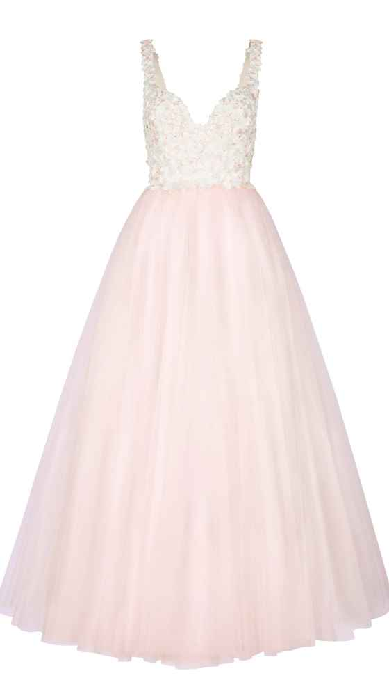 Occasion Dress with tulle and flowers