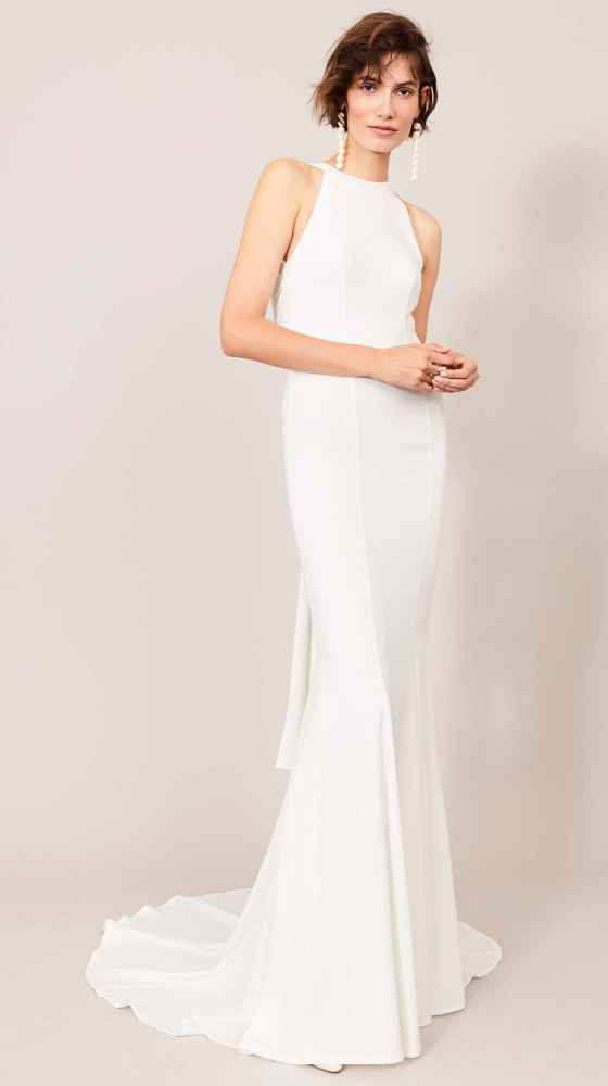 modern and sophisticated bridal gown