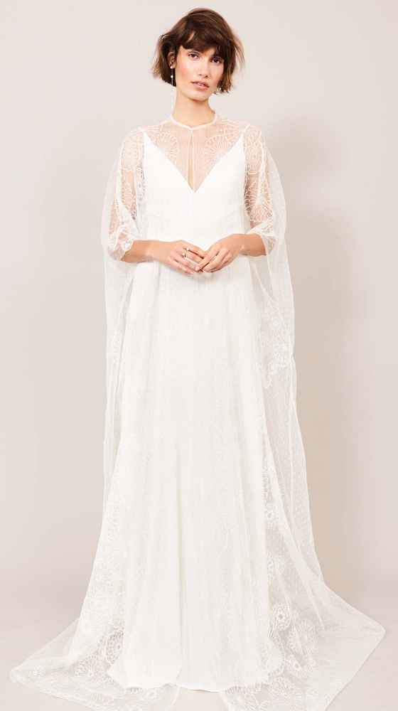 delicate cape made from luxury lace