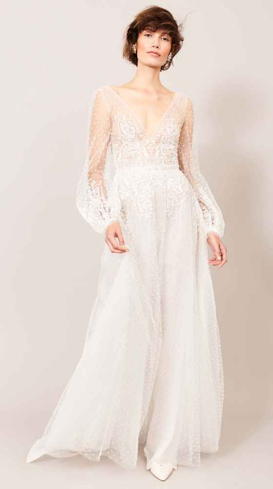 luxurious wedding dress from kaviar gauche, berlin