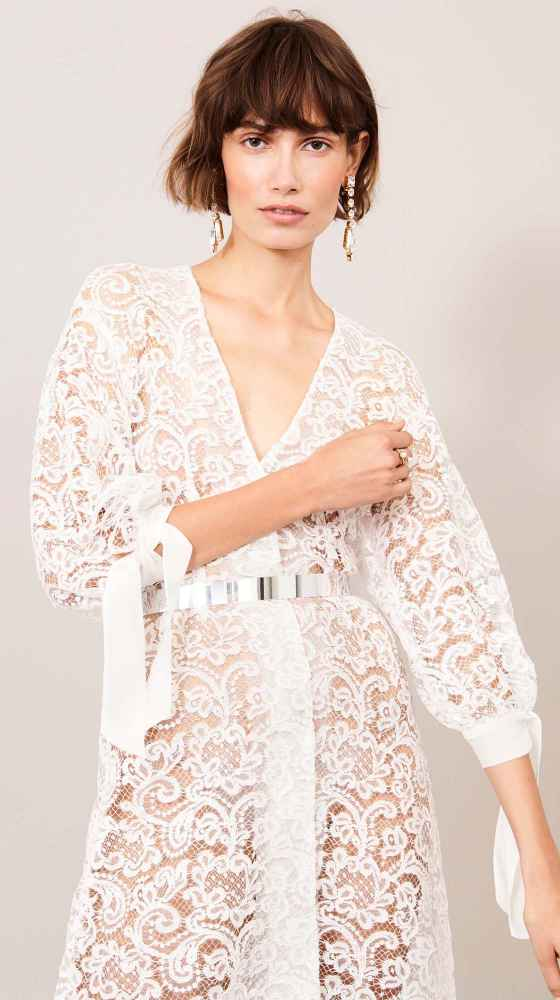 chemise dress for a feminine bridal look