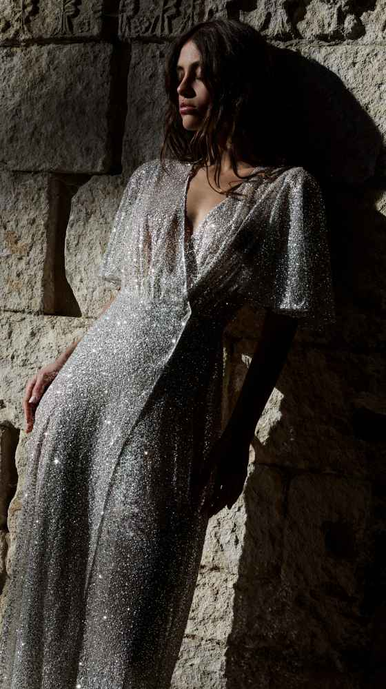 Glitter Cache Coeur Dress photographed by the lane