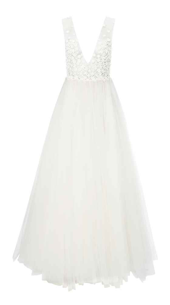 V-neck wedding dress Flirty Daisy Dress by Kaviar Gauche
