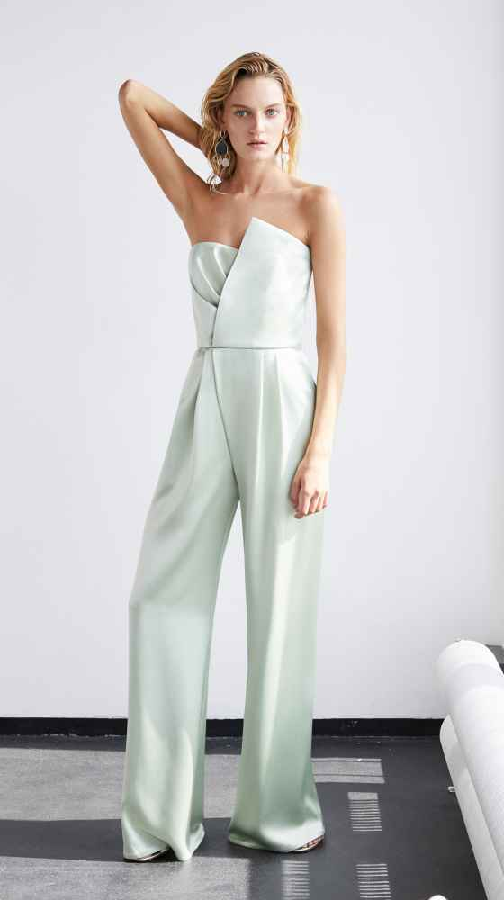 Asymmetric Bustier Overall