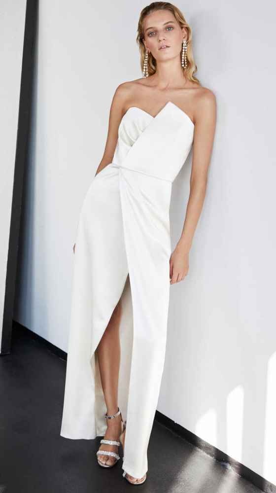 Look of Asymmetric Bustier Dress