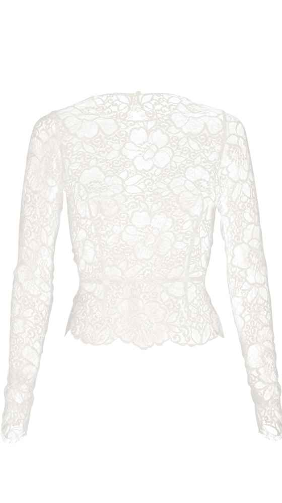 Lace top with sleeves
