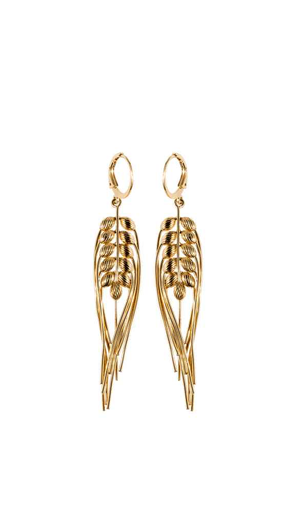 Earrings in Gold Blé by CÉCILE BOCCARA