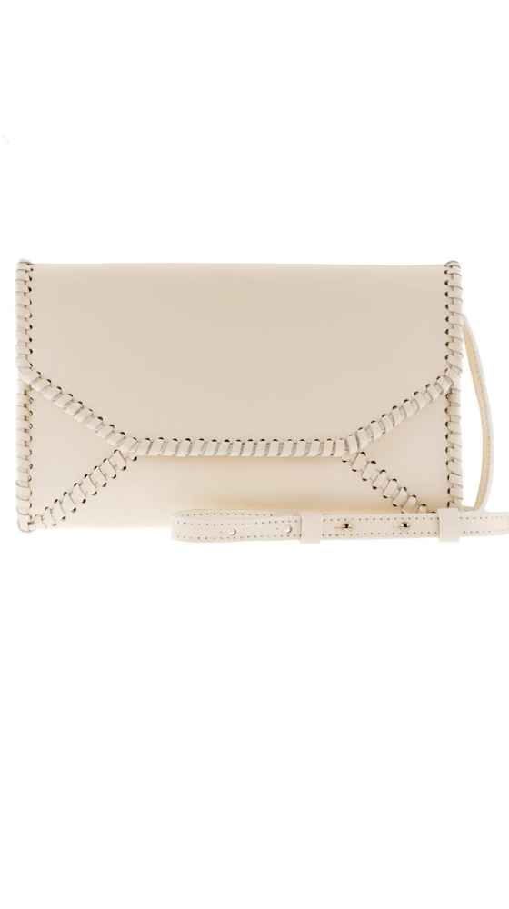 Braided Envelope Clutch Ivory