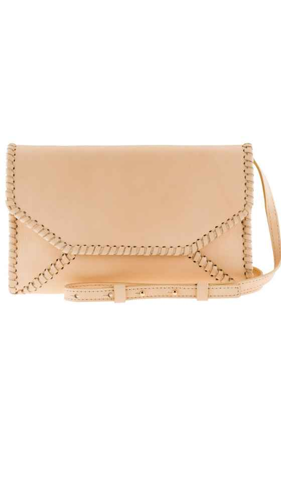 Braided Envelope Clutch Nude