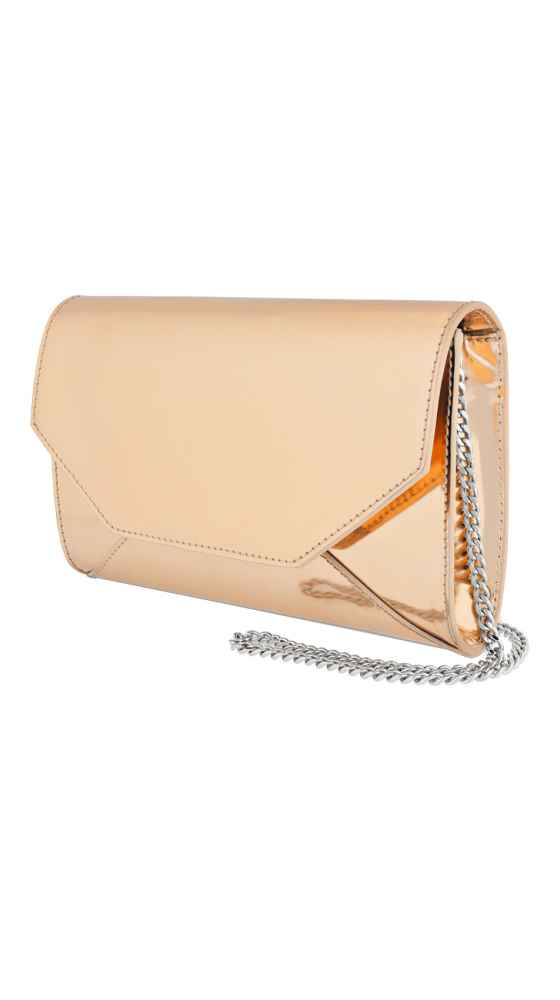 Metallic Envelope Clutch Mini Gold Sideview