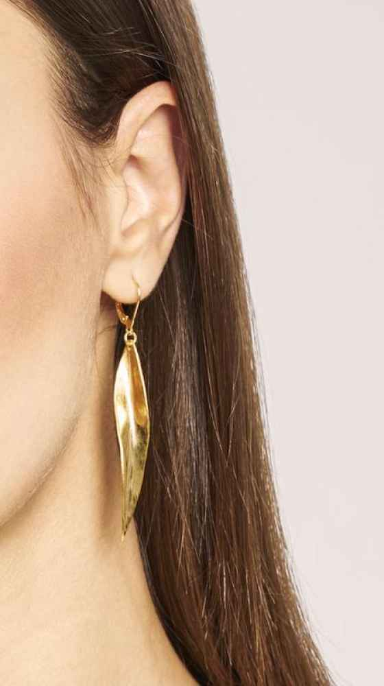 Feuille Earrings Gold KJ. ATELIER LOOKBOOK