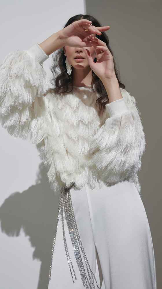 Sweater Fringes Ivory