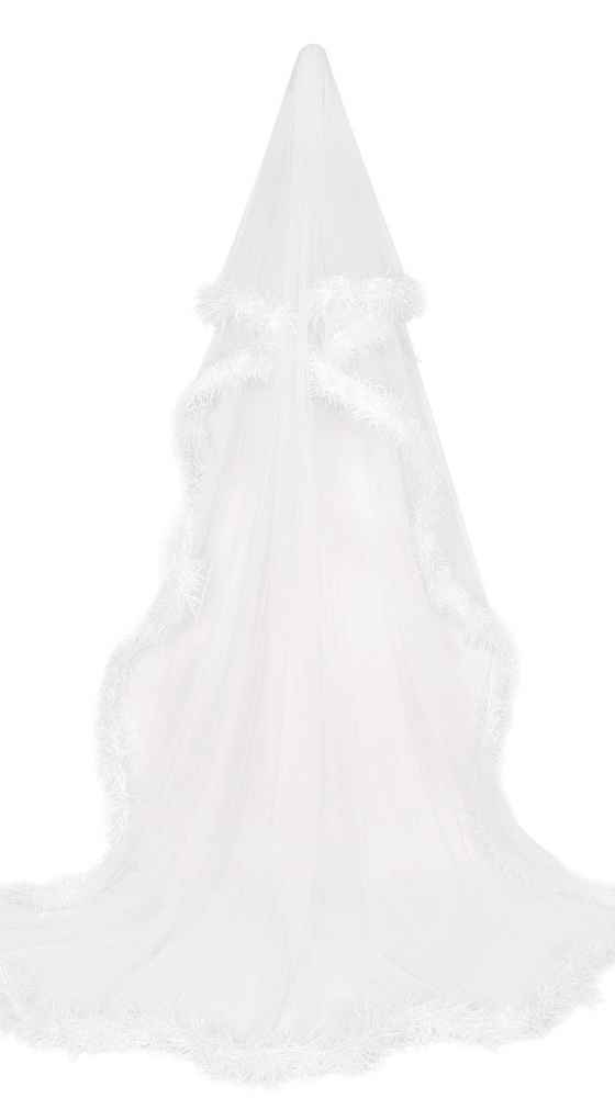 Bridal veil with tulle and tinsel