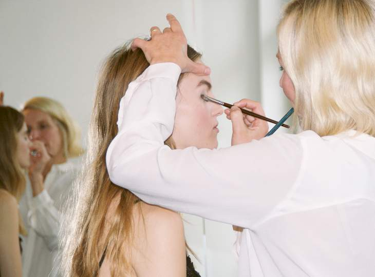 Backstage at the Fashion Week 2015