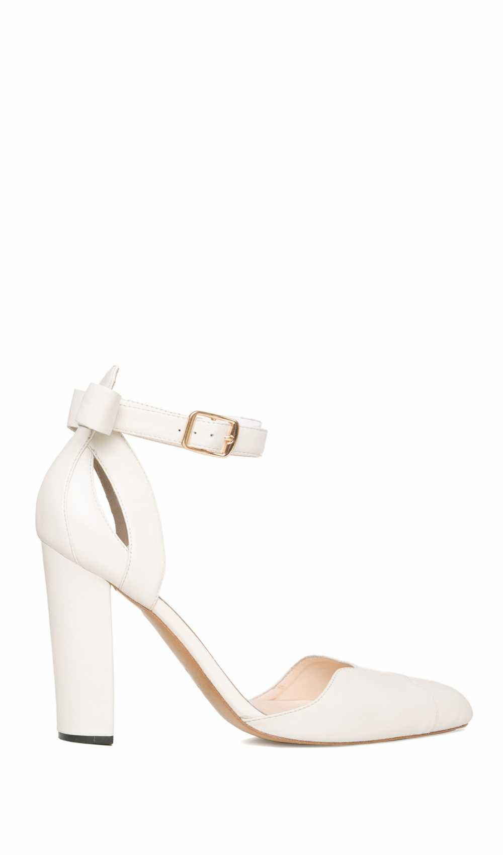 White High Heels - Petite Bow Pumps by Kaviar Gauche