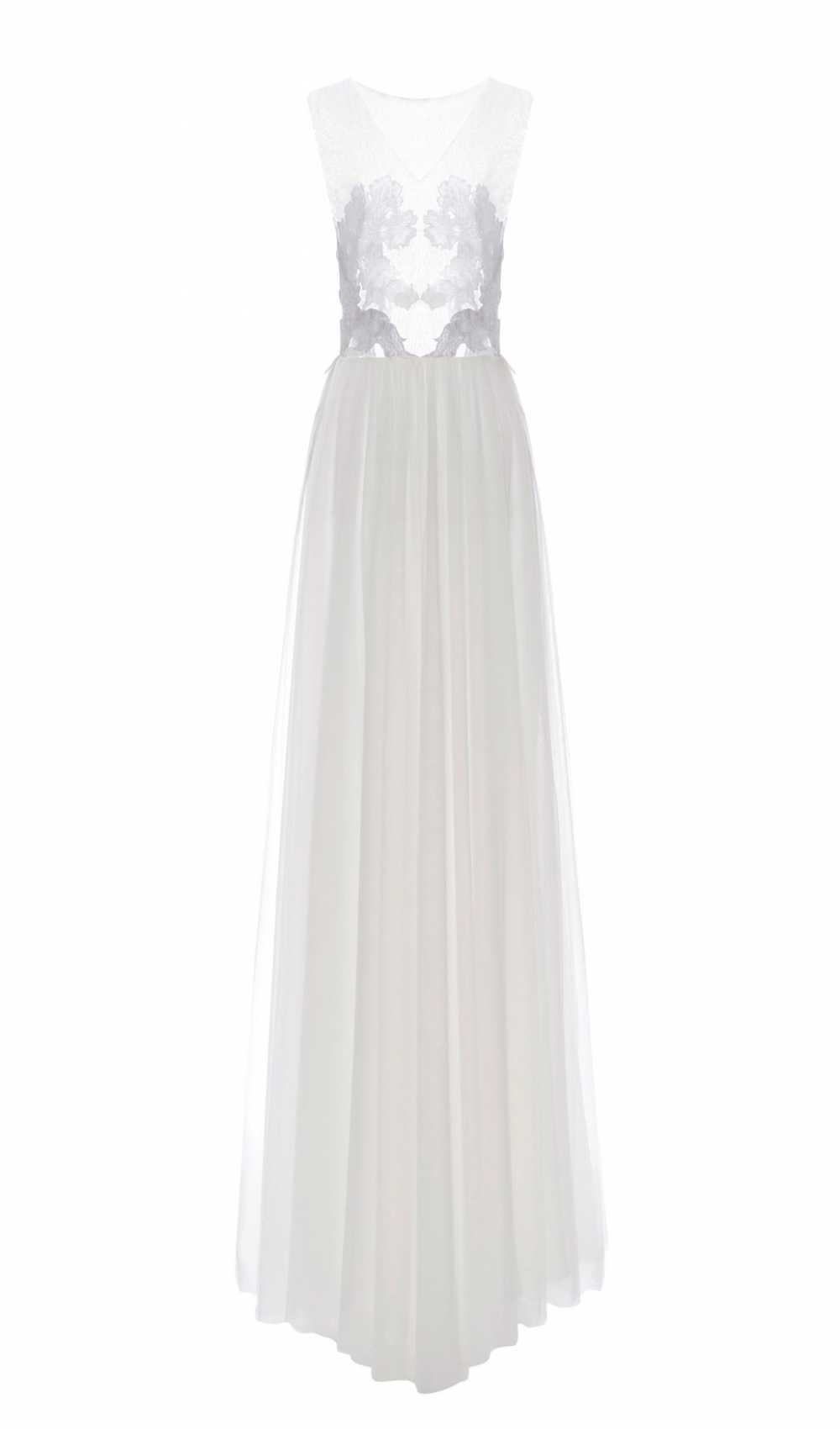 White Iris Illusion Dress