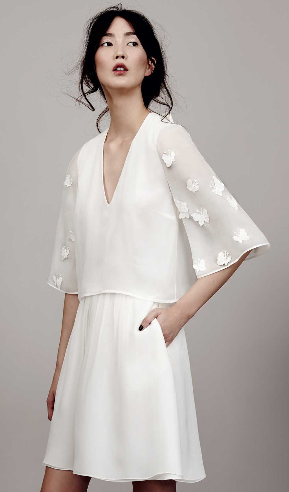 Mini Weddings Dress Papillon Sleeve by Kaviar Gauche