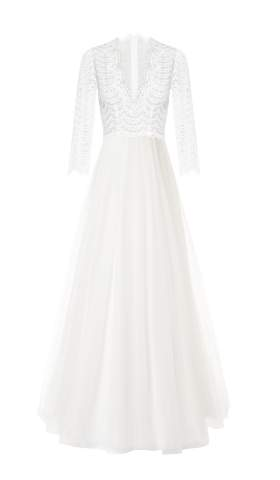 Romantisches Brautkleid Bardot Dekolleté Tulle Dress von Kaviar Gauche