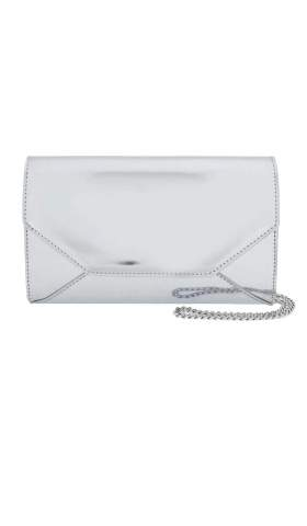 Metallic Envelope Clutch Mini silver