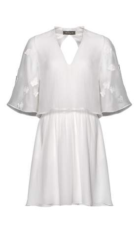 Mini Wedding Dress Papillon Sleeve Dress Short by Kaviar Gauche