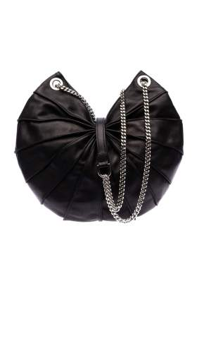 Handtasche mit Kette - Lamella Bag semi with chain