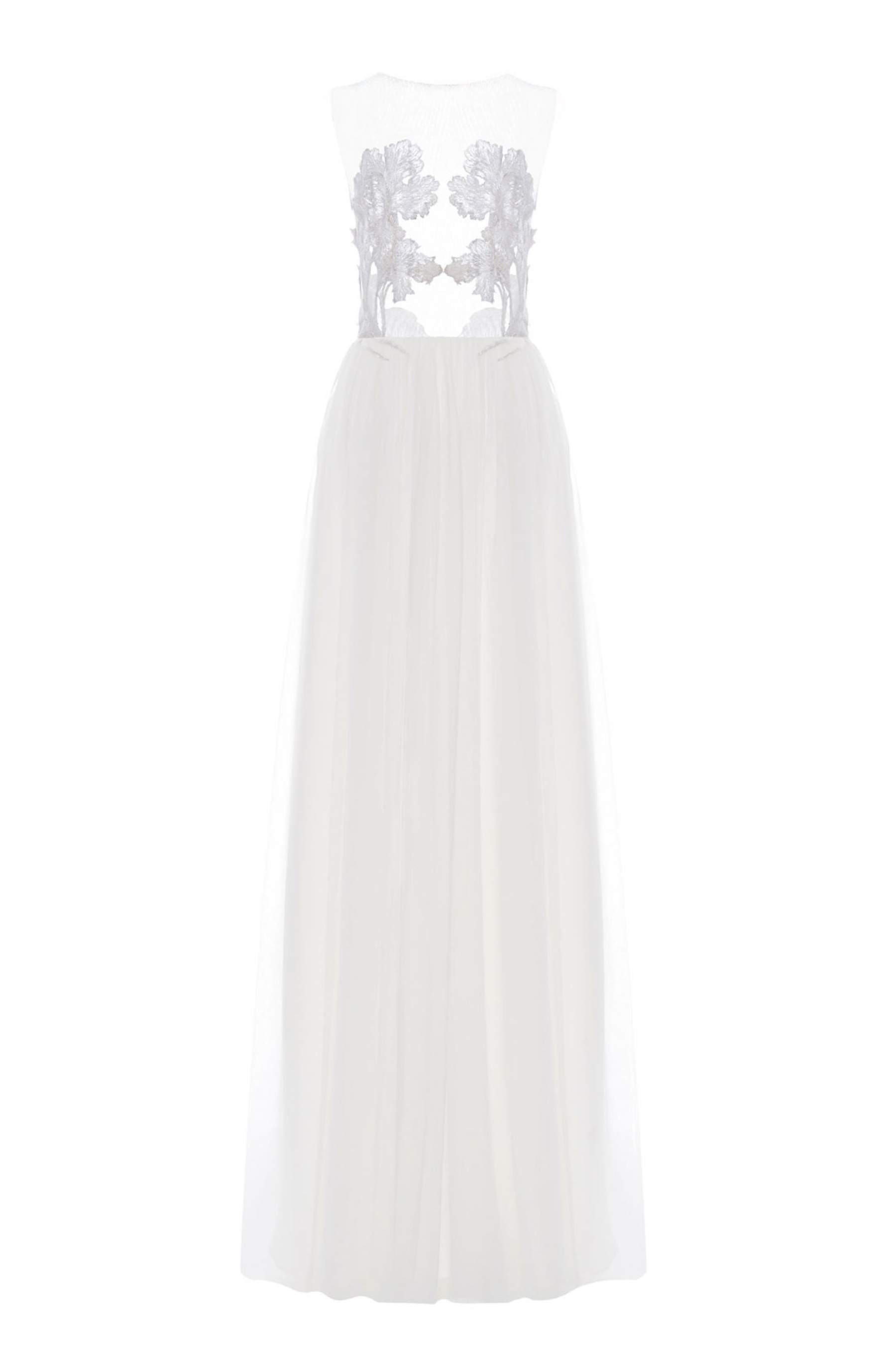 Designer Brautkleid White Iris Illusion Dress von Kaviar Gauche